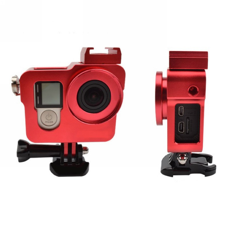 Aluminum Alloy Protective Housing Case Cage Metal Frame with UV for Gopro Hero 4