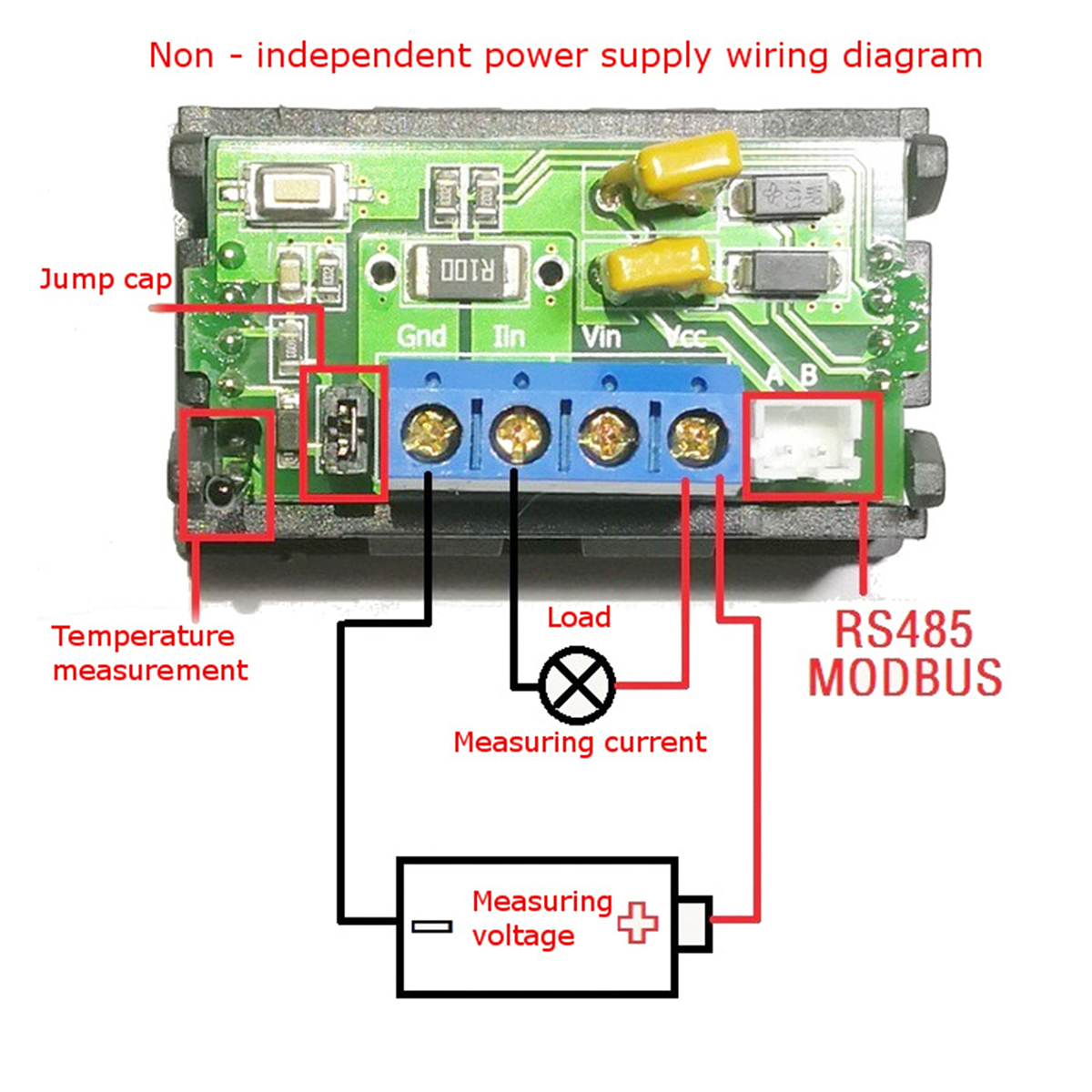 Winners Dc Meter Lcd Digital Dual Display Voltage Current Rs485 485 Wiring Connection Diagram Shipping Methods