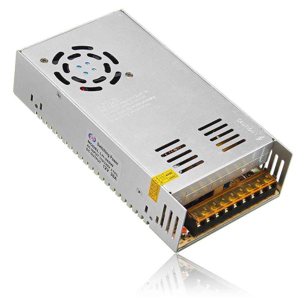 AC110V-220V to DC12V 30A 360W Switching Power Supply Driver Transformer for LED Strip Light