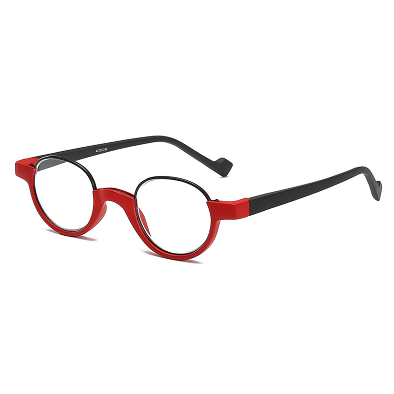 Unisex TR90 Round Frame Anti-fatigue HD Reading Glasses