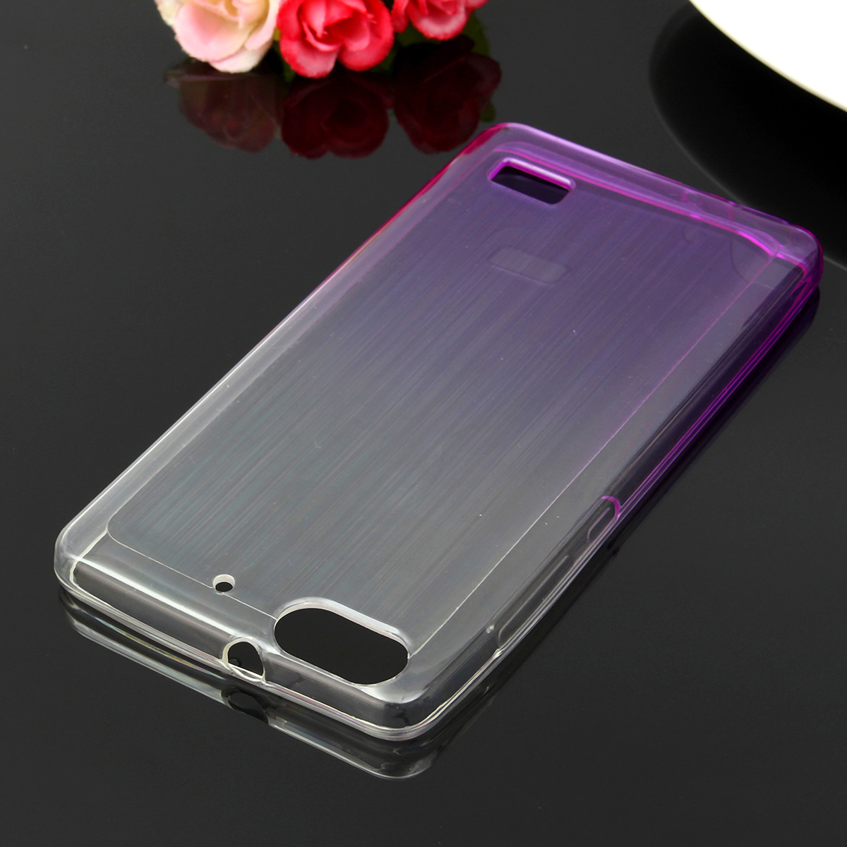 Clear Soft TPU Anti Shock Dirt Resistance Gradient Color Back Case For Huawei Honor 4C