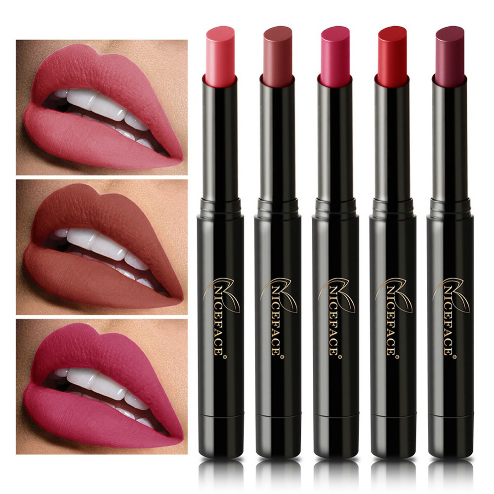 16 Colors Matte Velvet Lipstick Pencil Nude Lip Stick P
