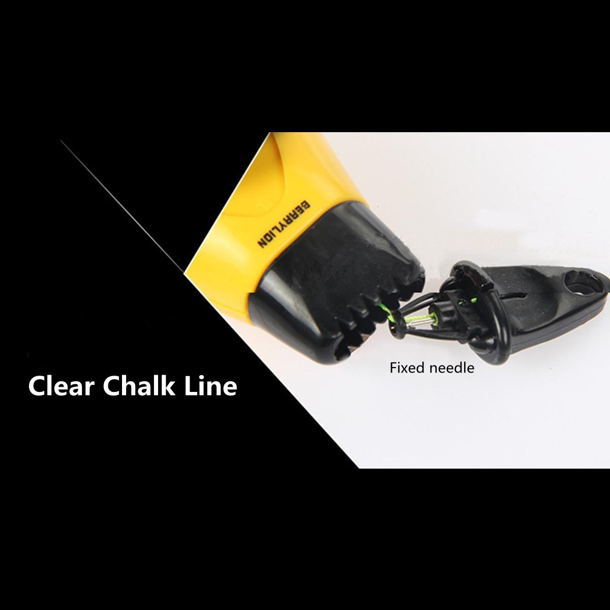 20ML Auto Rewind Chalk Rite Straight Snap Line Ink Woodworking 15M Plastic Case