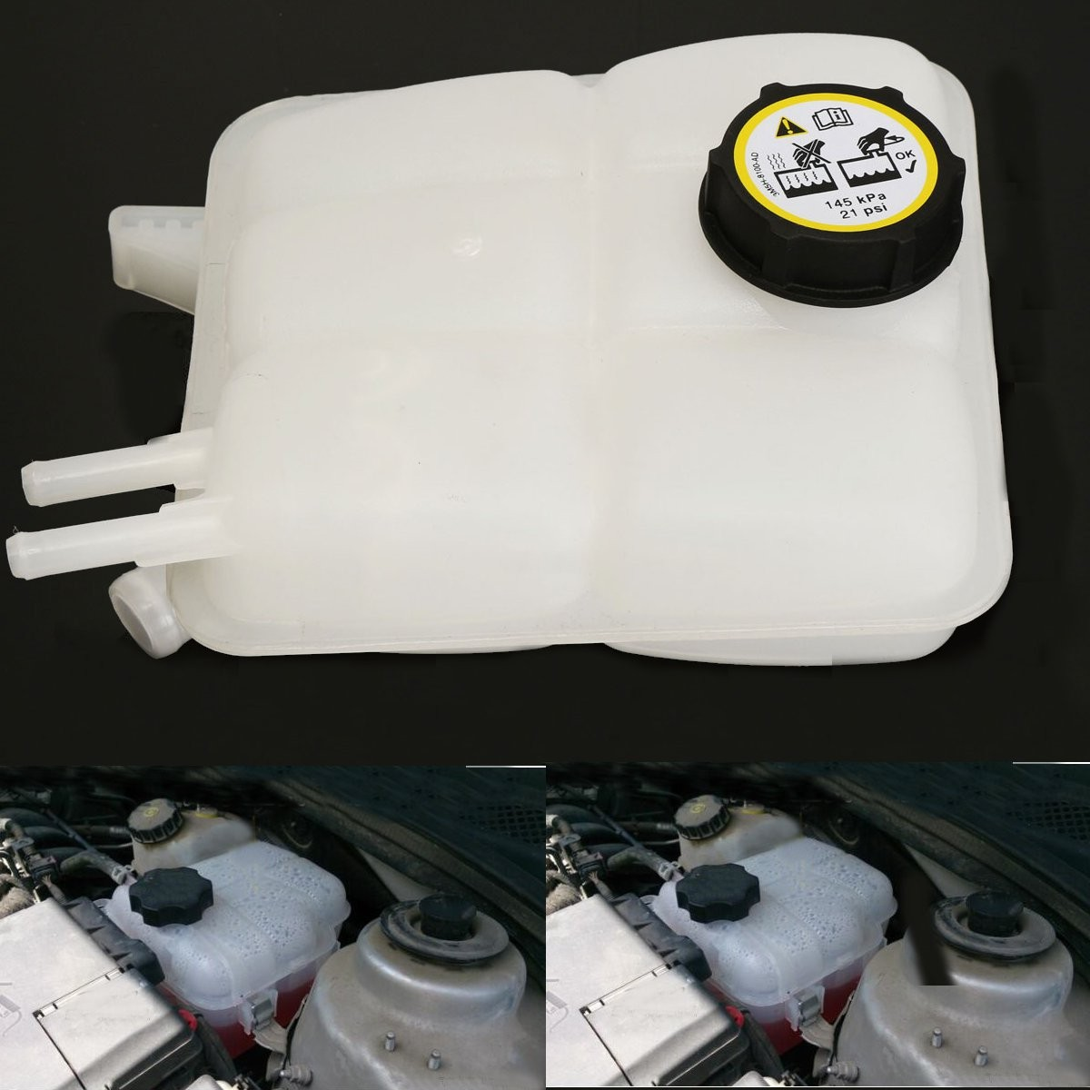 Coolant Radiator Overflow Recovery Bottle Water Tank Resevoir For 2004-2012 Mazda 3