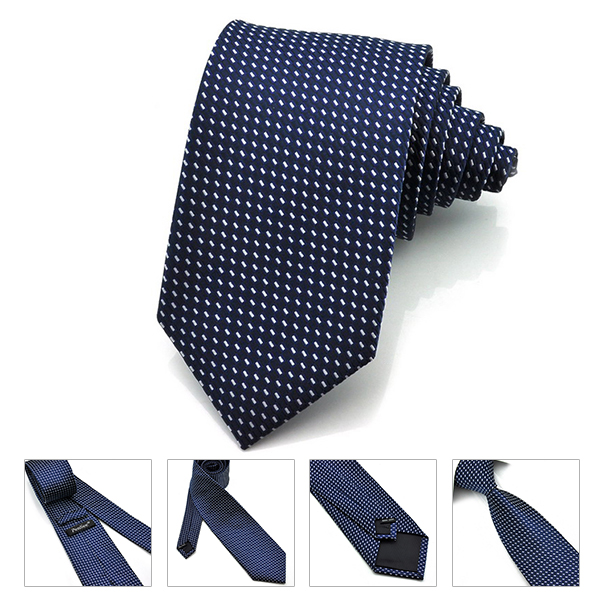 PenSee Mens Tie Silk Polka Dot and Flower Formal Necktie-various Colors Accessory
