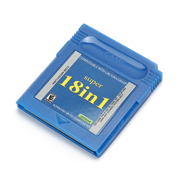 18 in 1 Game Cartridges Collection Card English Version for Nintendo GBA GBC GBASP