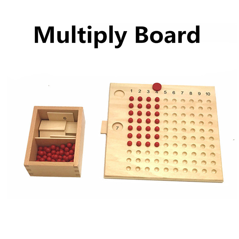 Montessori Mathematics Maths Bead Board Multiplication&Division Educational Science Toy