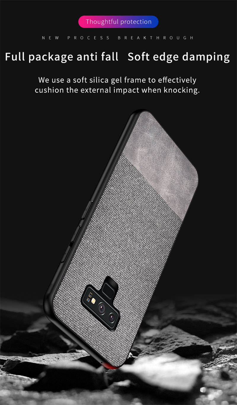 Bakeey Cotton Cloth Protective Case For Samsung Galaxy Note 8/Note 9 Anti Fingerprint Back Cover