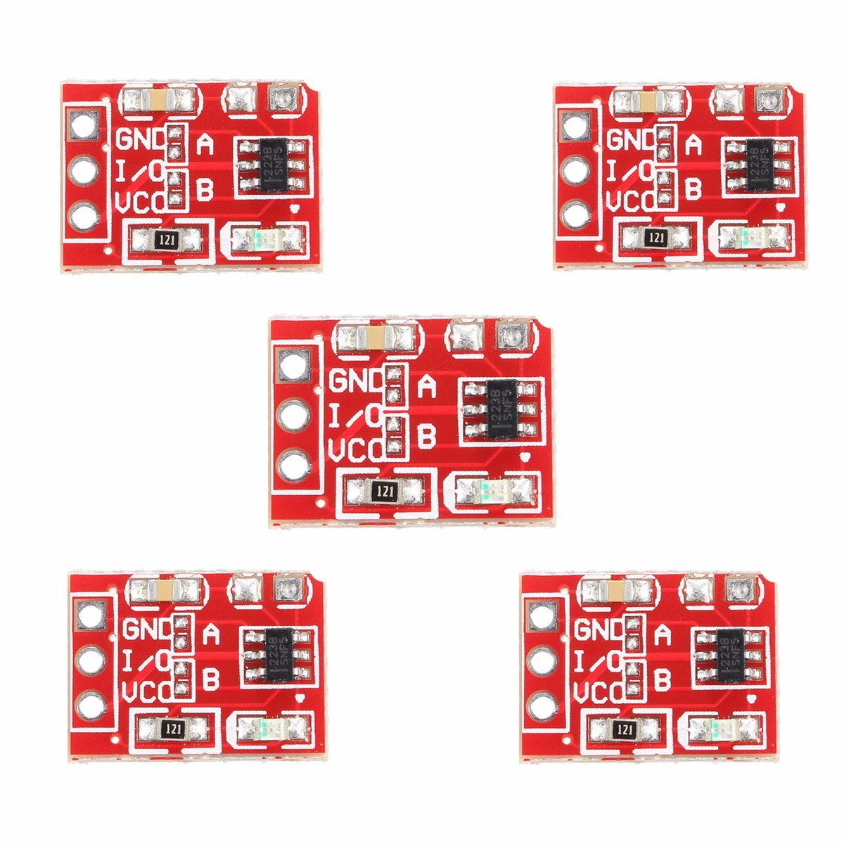 5Pcs 2.5-5.5V TTP223 Capacitive Touch Switch Button Self Lock Module For Arduino