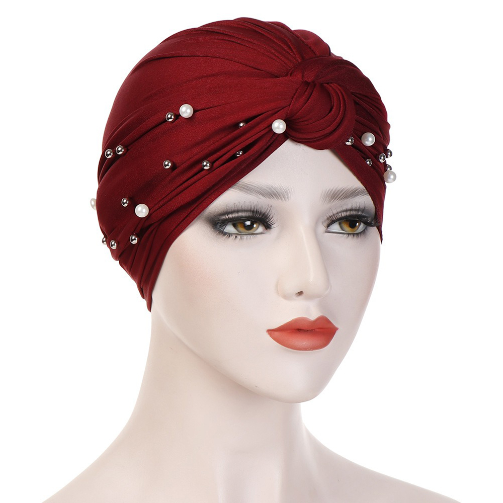 Side Flower Headband Cap Turban Cap