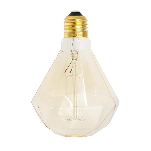 E27 40W G95 Warm White Diamond Retro Edison Light Bulb AC220-240V