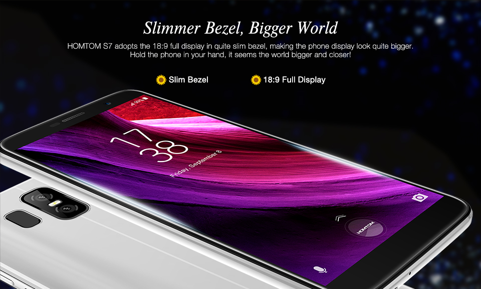 HOMTOM S7 Android 7.0 5.5 inch 3GB RAM 32GB ROM MTK6737 Quad Core 4G Smartphone