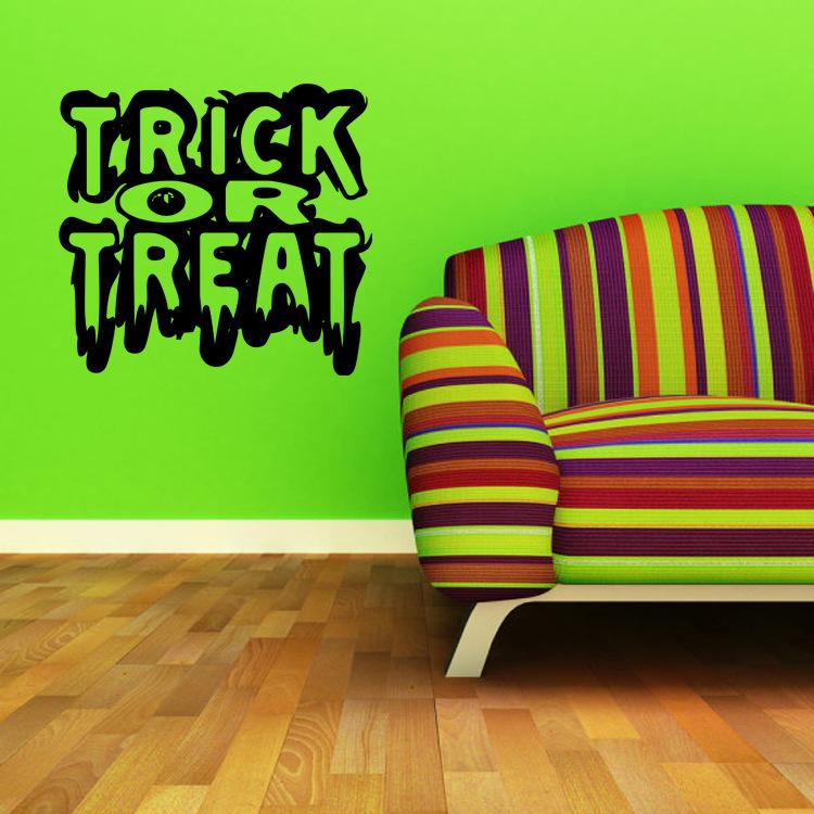 KST-1 Halloween PVC Wall Stickers Living Room Bedroom D