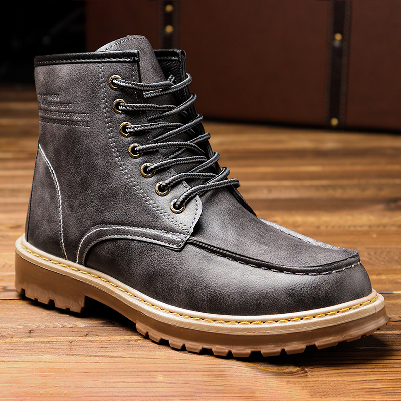 Men Fashion Leather Boots