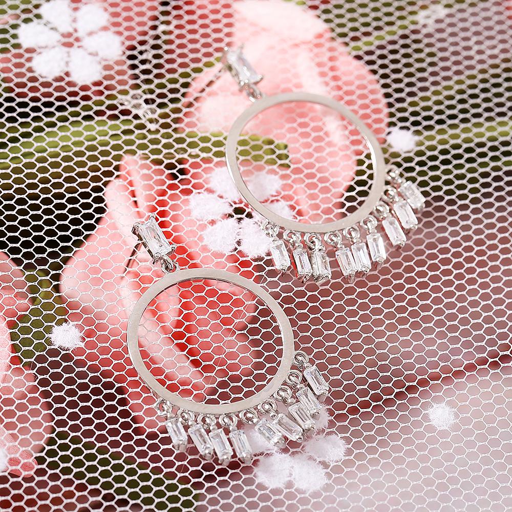 Trendy Platinum Tassel Long Earring Drop Gift for Girl Women