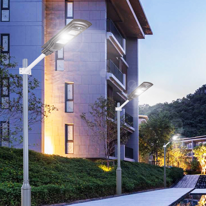 20W 40W 60W Solar Powered PIR Motion Sensor Street Lamp Outdoor Garden Yard Light