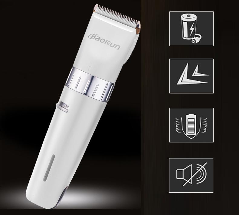 BaoRun T2 Pro Electric Hair Clipper Titanium Ceramic Blade