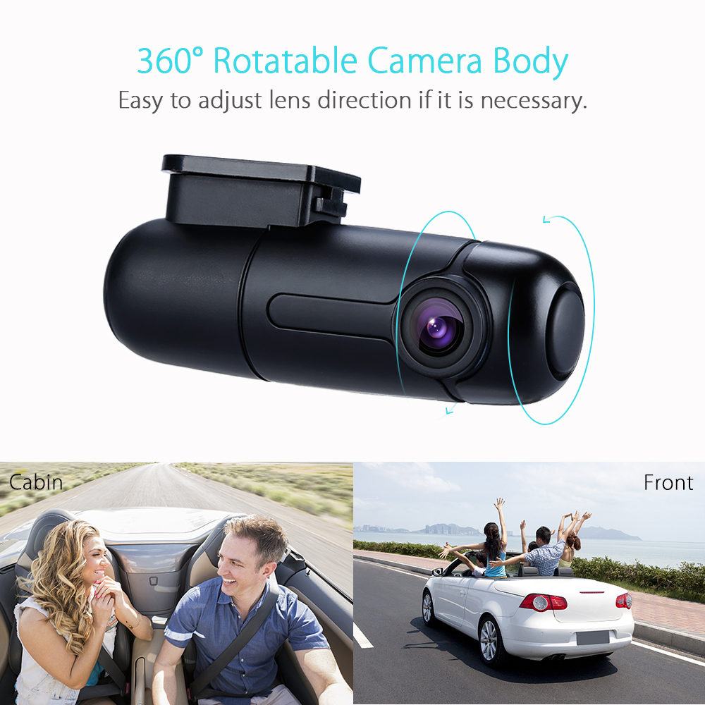 Blueskysea B1W IMX323 HD 1080P Mini WiFi Car DVR Dash Camera Dashboard 360 degree Rotate Capacitor