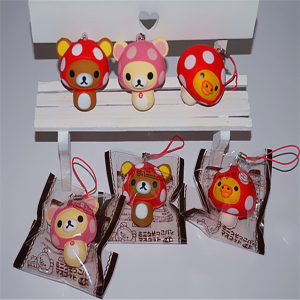 6cm Soft Squishy Mini Cute Bear Hang Decorations For Mobile Phone Slow Rising Pendant