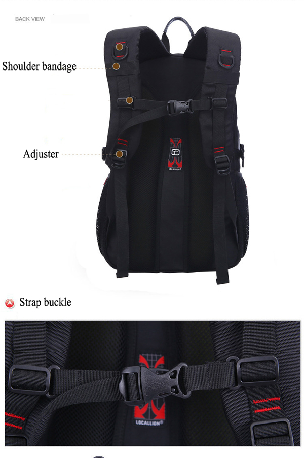Men Nylon 17 Inch Convertible Backpack Fashion Travel Bag Business Laptop Backpack