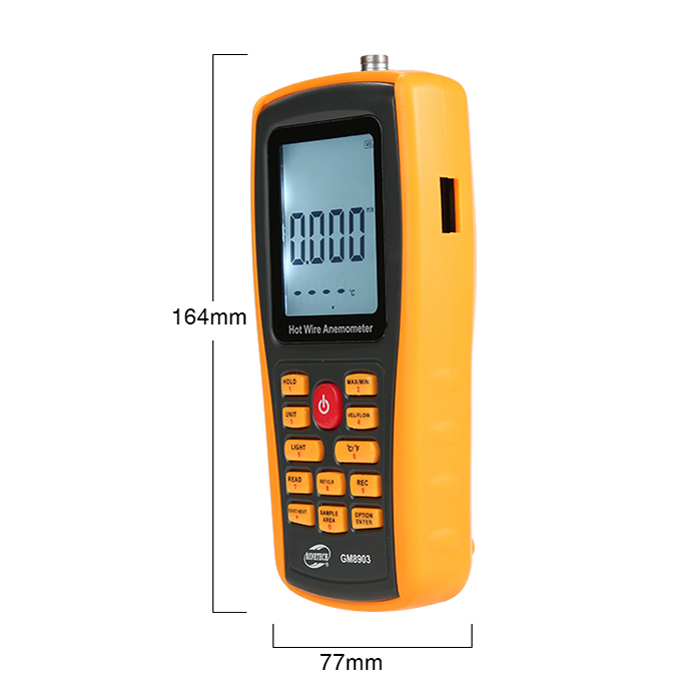 GM8903 Anemometer Wind Speed Meter Temperature Measure USB Interface