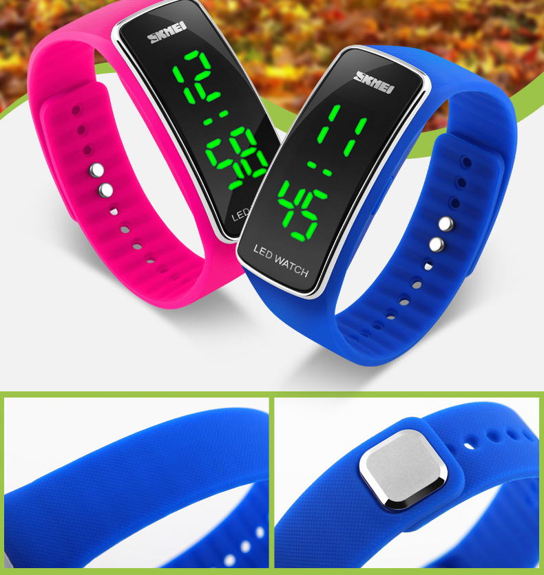 SKMEI 1119 Outdoor Activity Silicone Strap LED Digital Watch