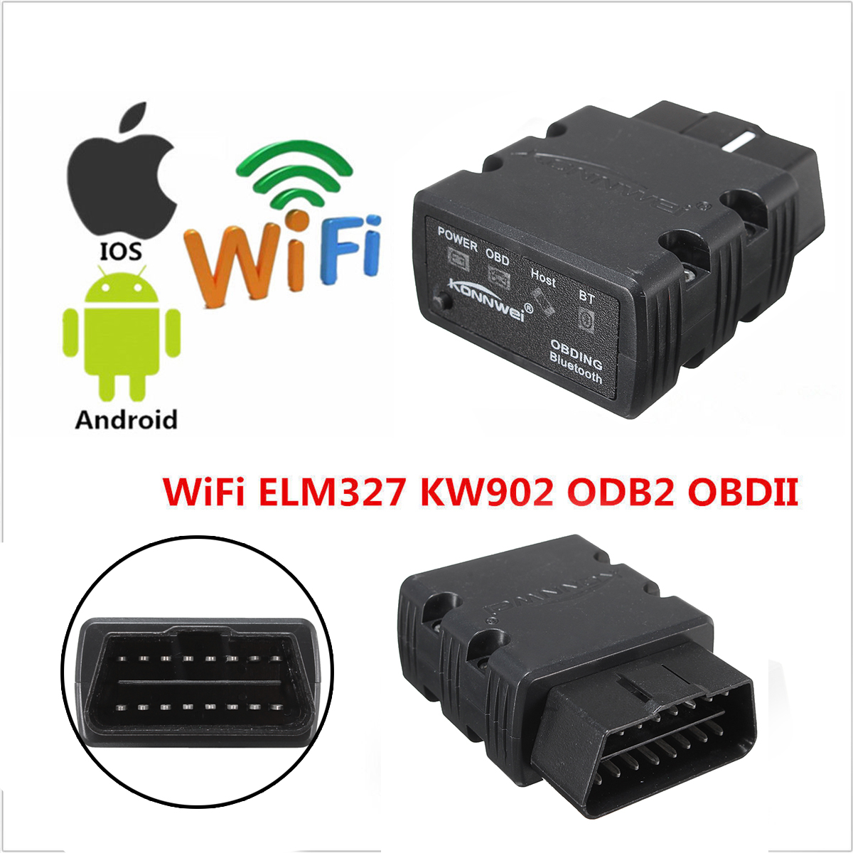 ELM327 bluetooth OBD2 OBDII Code Reader Car Diagnostic Scanner For Android PC