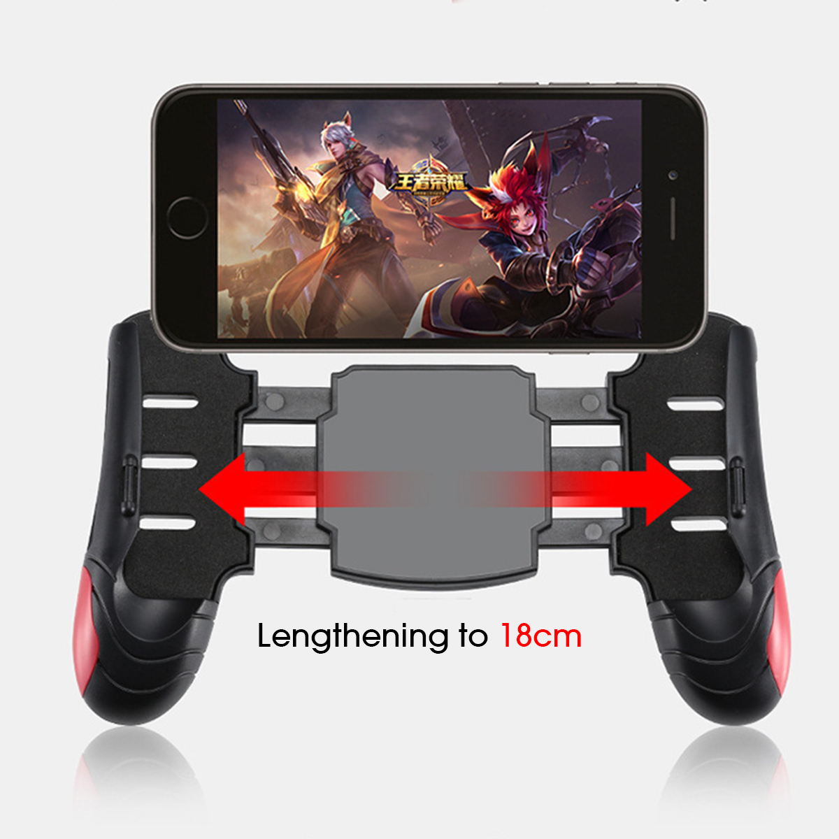 Adjustable Smart Phone Gamepad Holder Stand with Joystick for PUBG Mobile Game