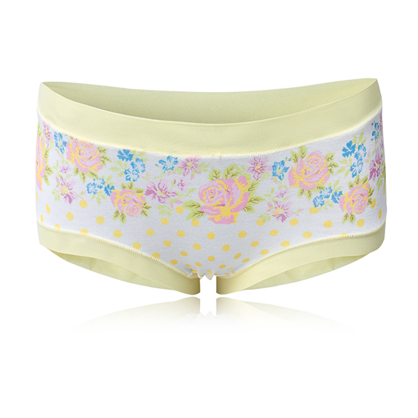 Women Rose Floral Polka Dot Printed Modal Breathable Briefs Underwear