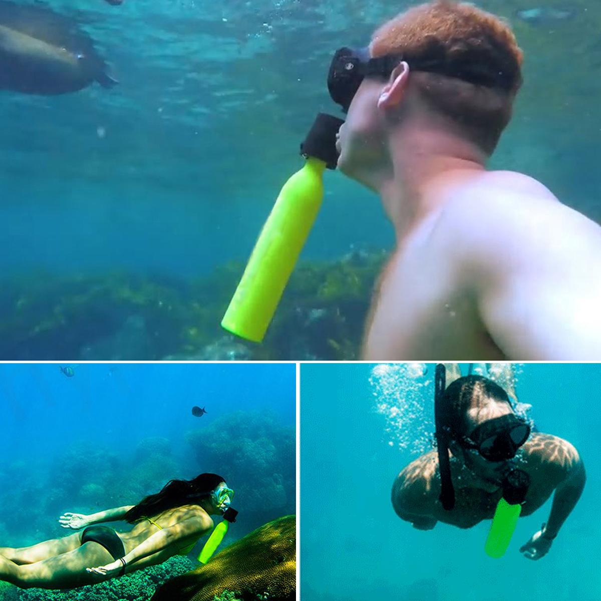 7pcs Mini Scuba Diving Tank Portable Spare Air Freedom Breath Underwater Set 5-10Min