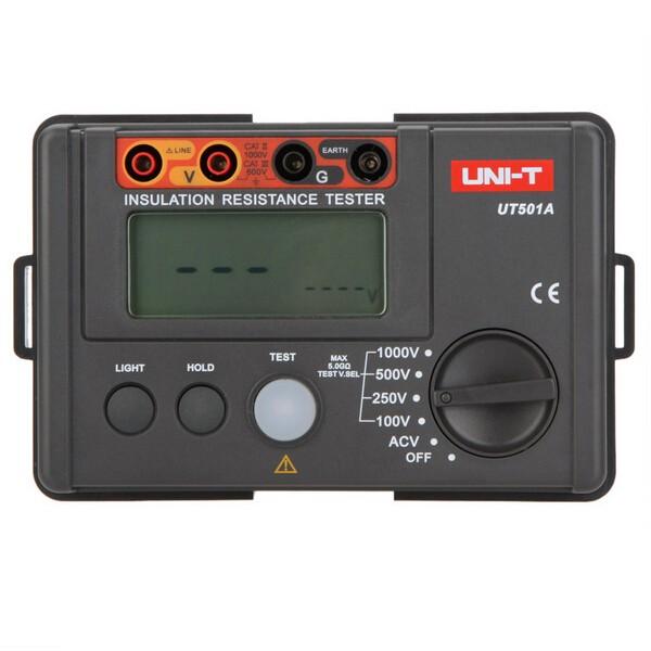 UNI-T UT501A 1000V Insulation Resistance Meter Ground Tester MegOhmmeter Volt Meterr with LCD Backlight