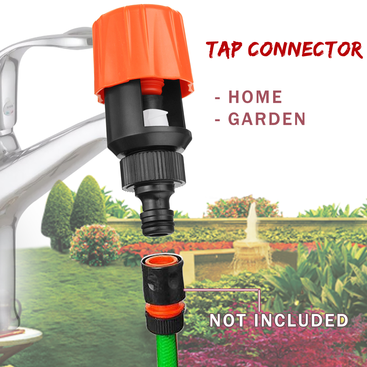 2x Universal Tap Water Hose Pipe Quick Connect Mixer Kitchen Garden Tap Adapter
