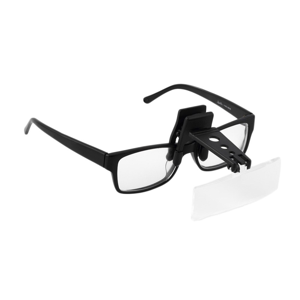 Folding Eyeglasses Clip On Flip Loupe Magnifying Glass