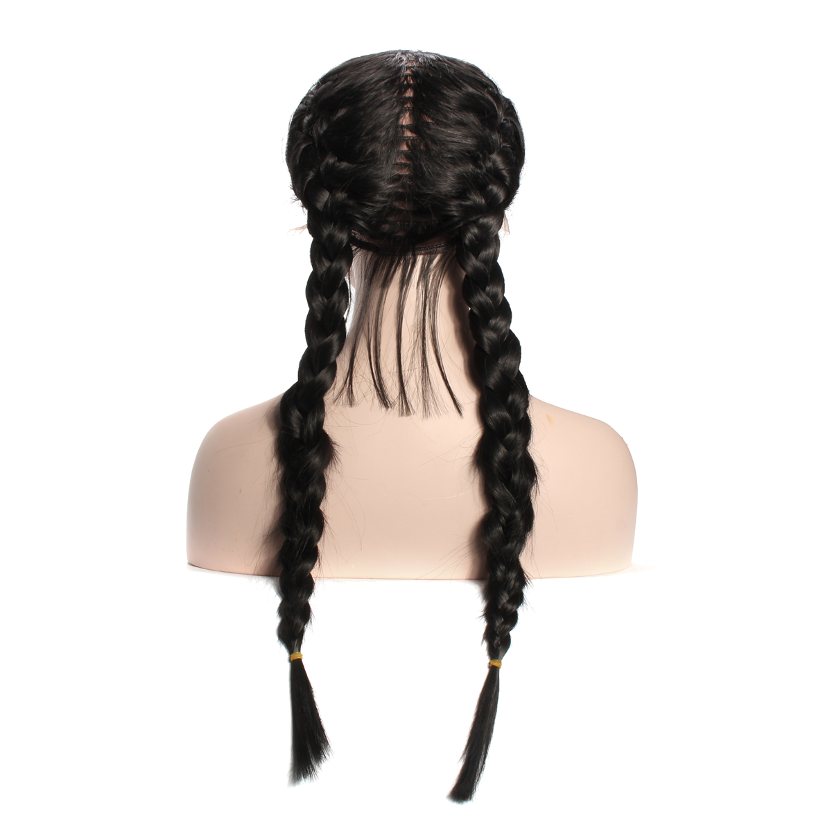 26'' Braided Lace Front Human Hair Wigs