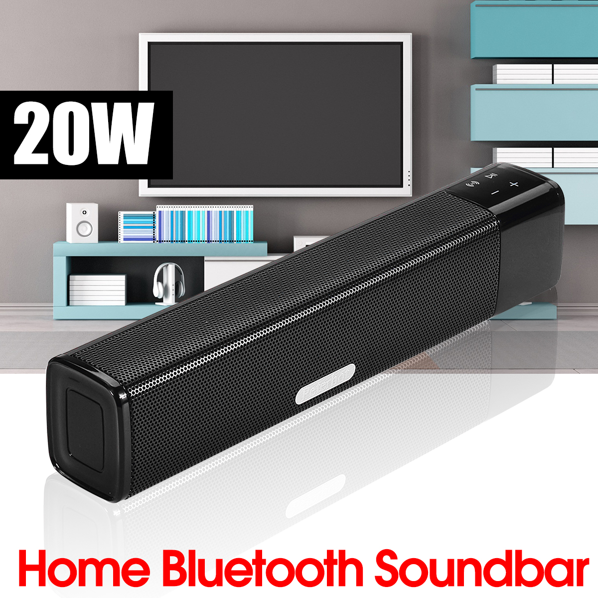 20W Double Units Wireless bluetooth Speaker Soundbar 4400mAh Touch Control Home Soundbar Subwoofer