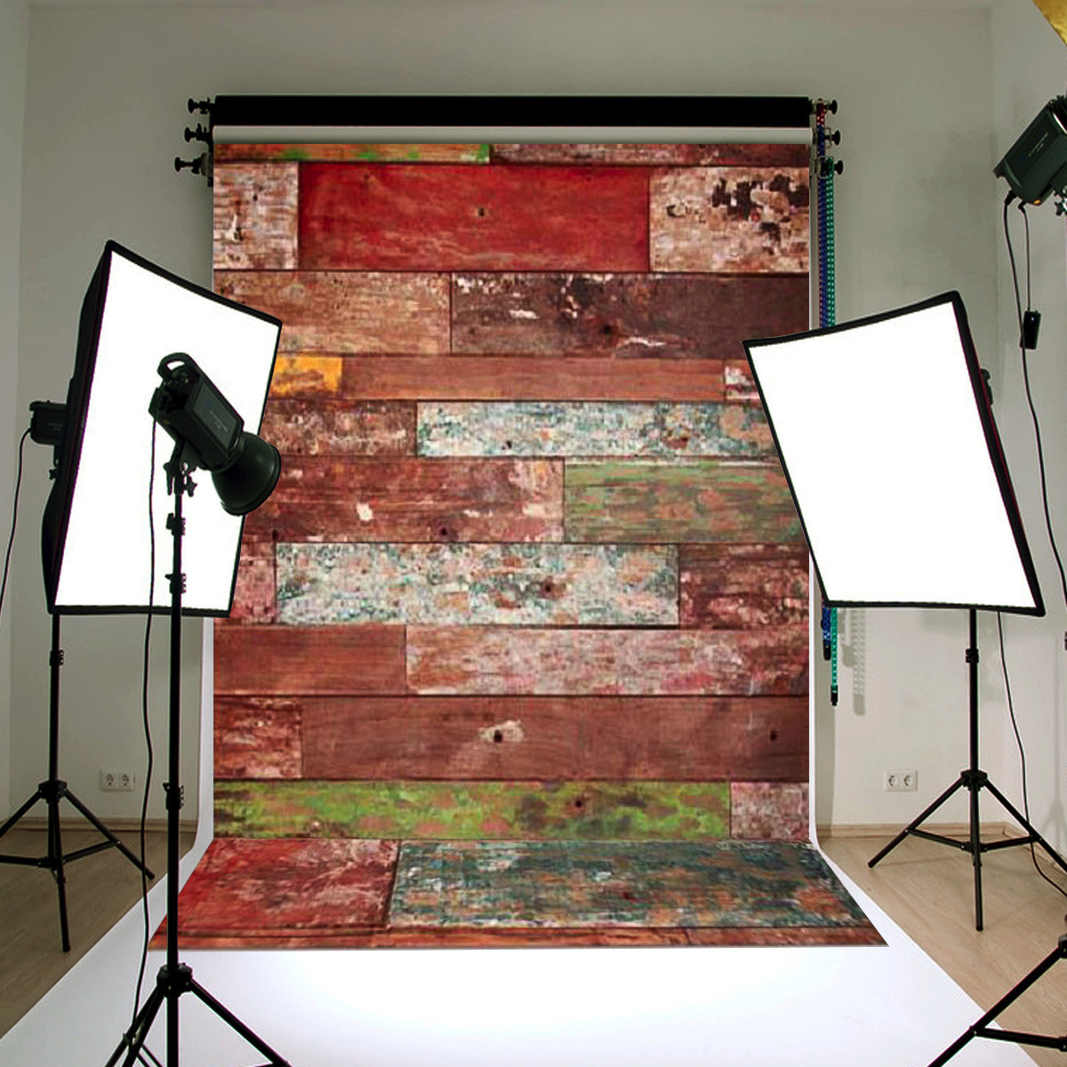 3x5ft Wood Board Wall Child Baby Studio Photo Photography Background Backdrop