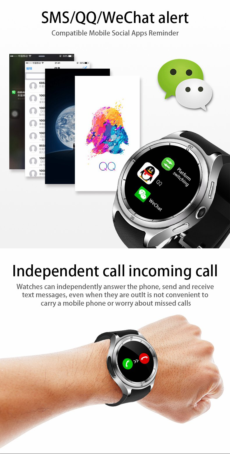 F10 MTK6580 IP67 Music 600mAh Big Battery Smart Watch Phone