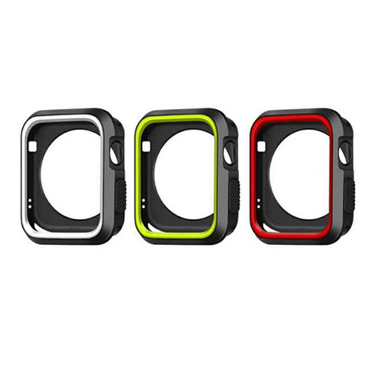 Sports Dual Colors Silicone Protective Cover Case for Apple Watch iWatch 38/42mm
