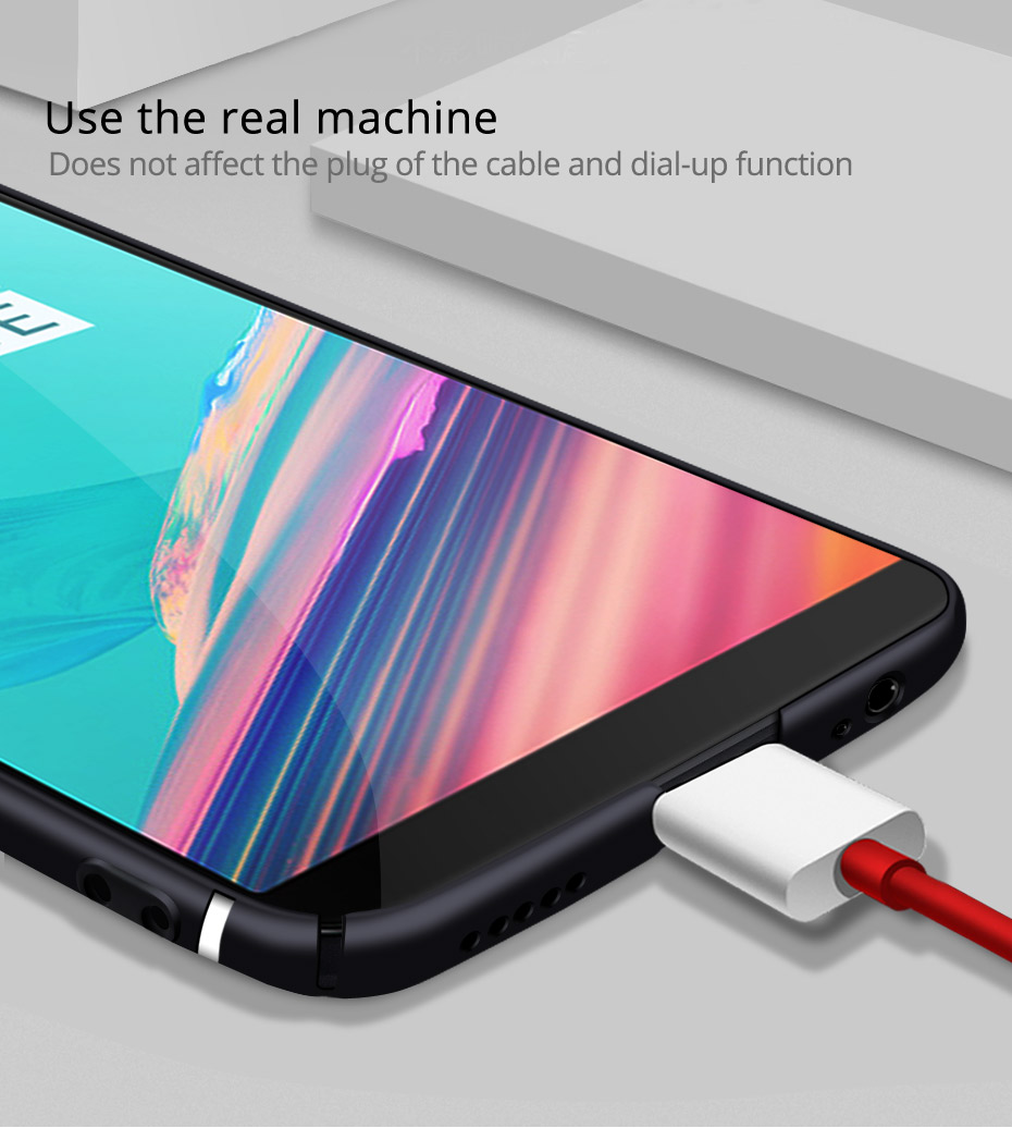 Bakeey Luxury Ultra-Thin Streamer Lines PC Protective Back Case For OnePlus 5T