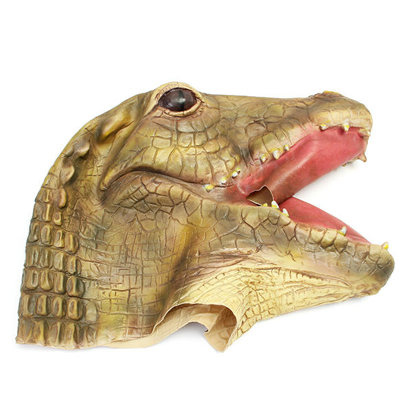 Crocodile Alligator Mask Creepy Animal Halloween Costume Theater Prop Party Cosplay Deluxe Latex