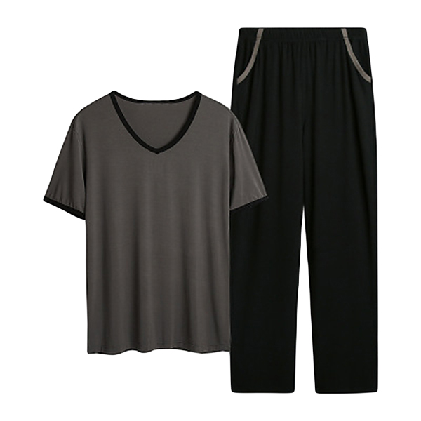 Summer Modal Soft Comfy Homewear Suits V Neck Sleepwear