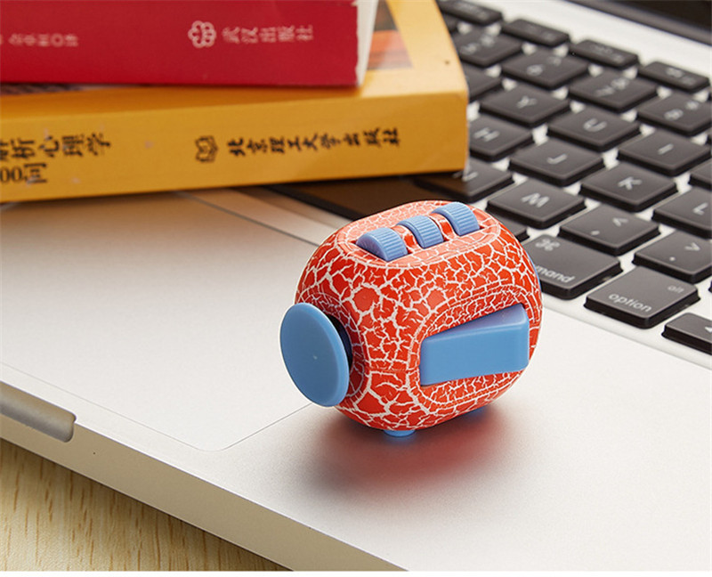 Cracked Whiny Fidget Cube Anxiety Stress Relief Fidget Toy Focus Adults Kids Attention Gift