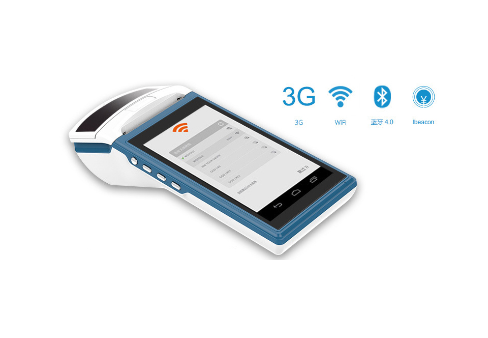 ZKC Touch Screen 3G Android 4.2 Wireless POS Terminal Mobile Handheld With Thermal Printer