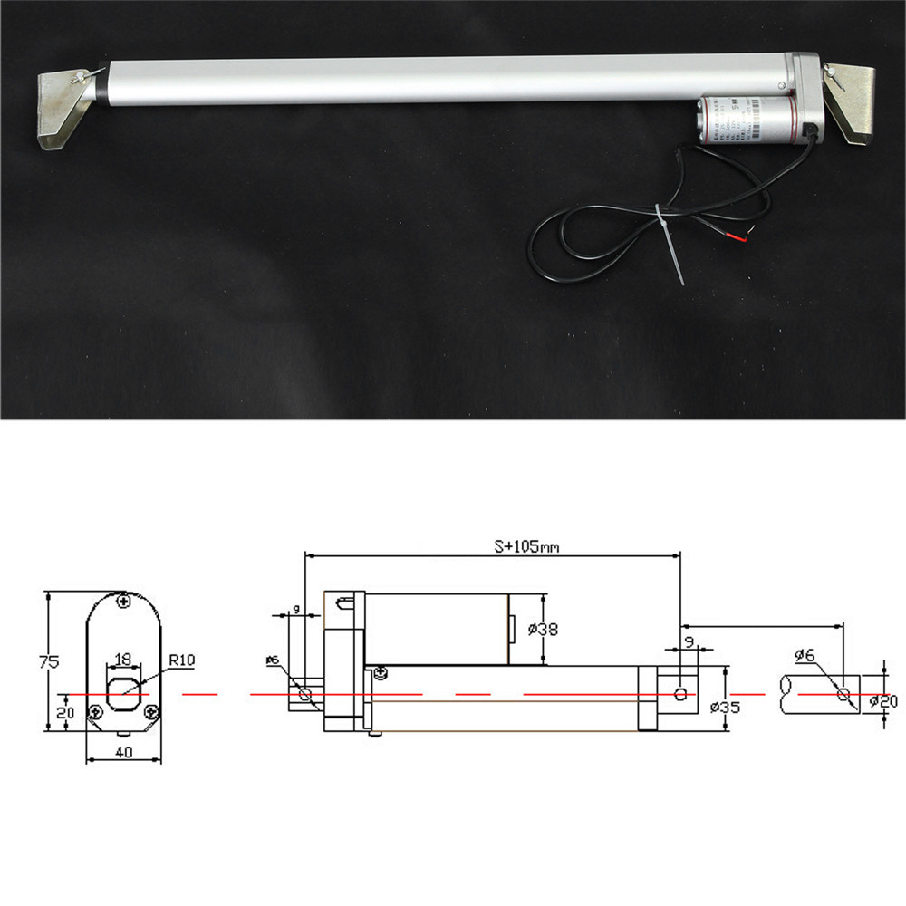 500mm 12v Linearantrieb Motor 1000n 225lb 12mm S Miniatur Dc Linear Actuator Wiring Diagram Miniature Electric