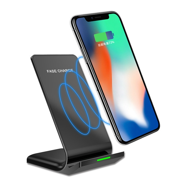 Bakeey N700 LED Indicatore Qi Caricatore wireless Supporto da tavolo per iPhone X 8Plus Samsung S8 Note 8