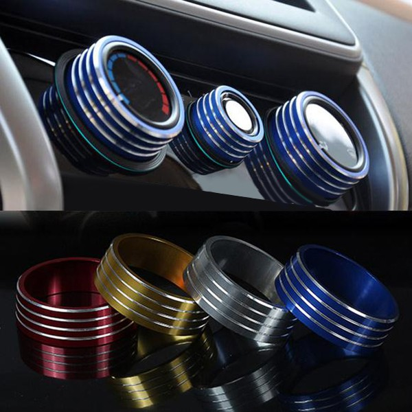 3pcs/Set Cars Alu Decoration Stereo Air Conditioning Knob Ring for Honda New City Vezel Fit XRV