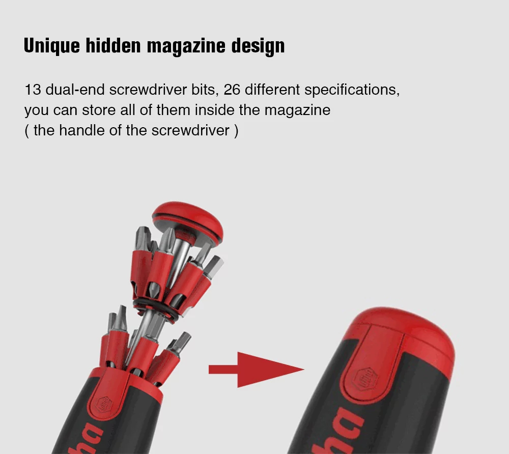 XIAOMI MIJIA Wiha 26 in 1 Screwdrivers Set Kit with Hidden Magazine Design