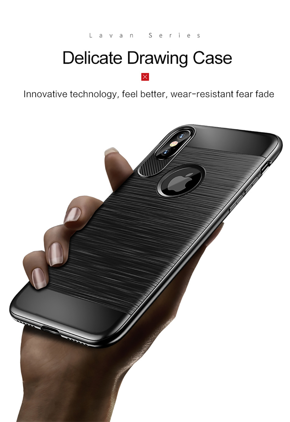 USAMS Heat Dissipating Carbon Fiber Soft TPU Case for iPhone X