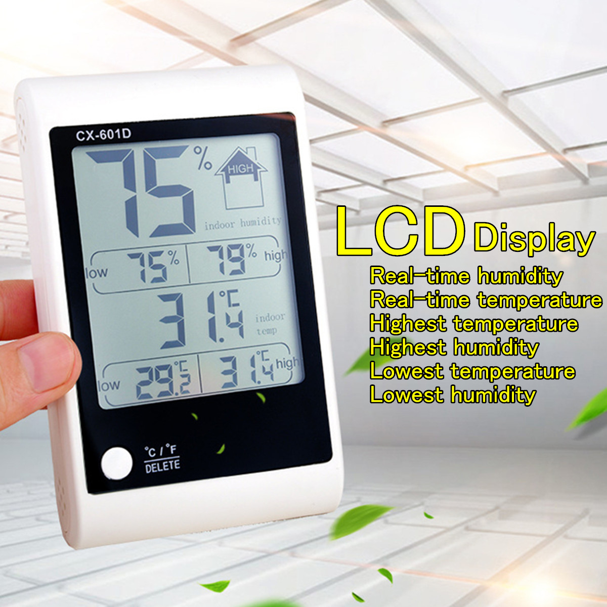 ThermoPro TP50 Digital LCD Indoor Thermometer Hygrometer Meter Temperature Humidity