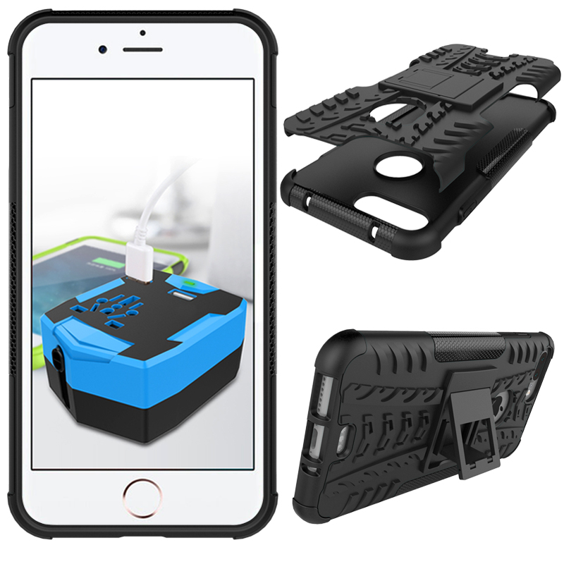 Rugged Kickstand Shockproof Case For iPhone 7 Plus/8 Pl